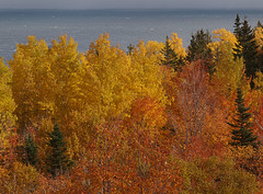 Gaspe peninsula and Gulf of St Lawrence (podicep) Tags: quebec autumncolor gaspepeninsula cloridorme