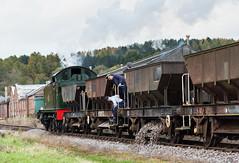 Ballast Drop (Articdriver) Tags: railway trains steam locomotive 5541 whitecroft deanforestrailway