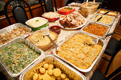 Thanksgiving 2015 Feast (Jemlnlx) Tags: thanksgiving family november food shells green bird vegetables cheese feast dinner canon turkey table eos potatoes stuffed mark iii yams casserole bean l 5d veggies usm product f28 ef macaroni candied 2470mm 2015