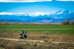 """Cycling past the """"front range""""."""