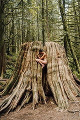 . (Liat Aharoni) Tags: trees woman canada tree nature fairytale nude nikon bc britishcolumbia magic fineart magical hugetree d700 nikond700