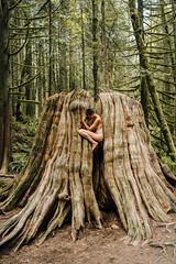 . (Liat Aharoni) Tags: trees woman canada tree nature fairytale nude nikon bc britishcolumbia magic fineart magical hugetree d700 nikond700
