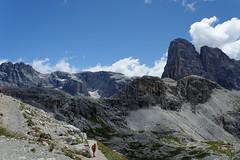 Widok z przełęczy Pian Cengia