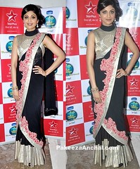 Shilpa Shetty in Designer Black Georgette Drape Lehenga Saree by Anamika Khanna (shaf_prince) Tags: shilpashetty bollywoodactress designerwear celebritydresses lehengasaree sleevelessblouses indianfashiondesigners blousebackneckdesigns blousepatterns blousebackdesigns bollywooddesignerdresses roundneckblousedesigns actressinblackdresses blousemodels blouseneckdesigns