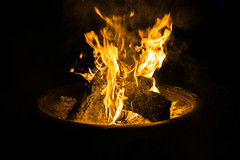 Fire (pdebree) Tags: wood red orange black hot yellow night dark fire burning campfire flame burn flaming onfire