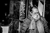 Not Santa (G.Roca) Tags: hard december strong winter old scarf character city 2016 portrait unaware cold male ponytail man people spain candid coolguy cool street bn madrid glasses blackandwhite downtown beard
