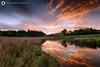 Dusk in Callander, Scotland (Silent Eagle  Photography) Tags: sep silent eagle photography silenteaglephotography outdoor scotland callander dusk sunset reflection sky clouds plants orange natural dawn iso50