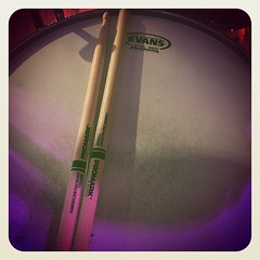 Shout-out to #promark drumsticks & #evansdrumheads for their support! They make my job easier!!