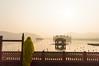 Morning souls | Jal Mahal,Jaipur. (vjisin) Tags: rajasthan india iamnikon nikond3200 asia incredibleindia indianheritage travelphotography travel nikon jalmahal touristplace dawn sunlight shadows sun mahal bird indianstreetphotography streetphotography light outdoor dynamic indianwoman pigeons