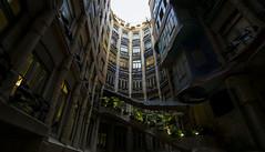internal cloister La Pedrera (LorenzoRufusTestai) Tags: sony a6000 oldlens barcelona barcellona nikkor nikkorlens travel casamilà samyng 10mm f28