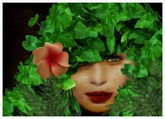 Primeplant (Swissrock-II) Tags: challenge green hair fantasy woman photoshop photomanipulation photoshopart digitalart digital lightroom december 2016 flower lips