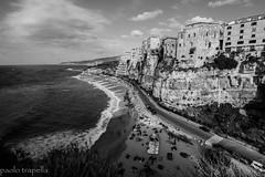 Tropea (paolotrapella) Tags: tropea panorama bianco nero bw calabria italia mare acqua cielo nuvole