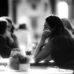 Little Smile (Mario Rasso) Tags: mariorasso nikon cafe berlin germany deutschland girl blackandwhite blackwhite monocromatico woman d800