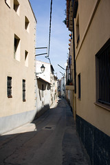 Spanish street (gina.nicole.tesloff) Tags: spain summer blue beige beautiful sun shadow sky travel tradition hot street walking enchanting exotic romantic texture yellow outdoors overhead outside old pattern pretty artistic sunlight detail depth design architecture glow home house history light exposure canon contrast colour colourful color countryside view vintage valley village bright beauty background