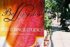Belly Sister (35mm) (jcbkk1956) Tags: bangkok ekkamai street sign advertisment poster belly bellydancing dof minolta xd7 analog 35mm fujicolour200 50mmf17 worldtrekker manualfocus