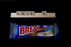 Have A 'Break.' (Photography Junction) Tags: break breaksupa chocolate candy candyphotography kidsinacandystore yum treat snack snacktime canon qatar doha qa doh middleast stillife stillphotography stilllife coco cocoa tiffany blue red concept photoshoot myphotography powershot portrait mixed feelings scrabble letters creative black blackbackground teensonflickr teenphotographer teenphotography teens teen aspiring