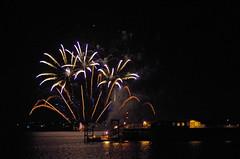 Hythe Fireworks 1 (David Blandford photography) Tags: hythe pier fireworks southamptonwater southamptondocks hampshire arcadia cruise liner