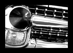 getting grilled... (Stu Bo) Tags: certifiedcarcrazy classiccar coolcar chromeisking grill bestofshow blackandwhite bw vintagecar vintageautomobile oldschool onewickedride oneofakind sbimageworks shadows smooth light showcar dreamcar sexonwheels car contrast bnw
