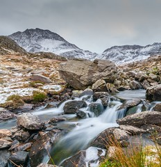 Flowing (Lee~Harris) Tags: water river bridge rugged mountain mountainrange wales uk colour colours longexposure love snowdonia snow snowcappedmountain britain beautiful naturelovers nature landscapes landscapephotography motion flowing flowingwater nationalpark