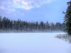 Ahvenlampi (MikeAncient) Tags: hdr handheldhdr tonemapped tonemap winter talvi lumi snow puu puut tree trees mäntsälä finland suomi jää ice utu usva haze mist misty metsä forest