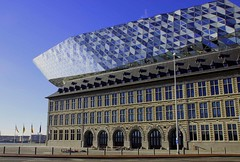 Antwerp, Belgium (ClaDae) Tags: belgium antwerpharbourhouse antwerpen antwerp harbour architect zahahadid belgique architecture buildings modern old blue stone glass europe design britishiraqi urban city street