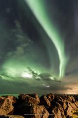 Over the rocks and far away :) (Kjartan Guðmundur) Tags: iceland ísland auroraborealis northernlights norðurljós nordlys zorzapolarna polarlict canoneos5dmarkiv tokinaatx1628mmf28profx kjartanguðmundur arctic photoguide ngc nocturne