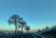 Before Sunrise (e_impact) Tags: driving germany winter earlymorning sunrise morning roadtrip fun drive road street highway b27 travel north moving dynamic holiday newyearseve 2016 2017 fast going family countryside view incar