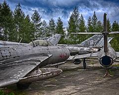 Cold War Scrap (MrBlueSky*) Tags: aircraft jet polishairforce aviation military polishaviationmuseum muzeumlotnictwapolskiego poland polska travel ngc aficionados pentax pentaxlife pentaxawards pentaxk10d coldwar mikoyangurevich sukhoi