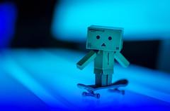Electric Danbo. (Matt_Briston) Tags: danbo robot light blue