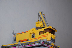 Container ship (sander_koenen92) Tags: lego space mining tower lava platform outpost container ship crane crystals