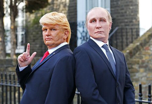 Presidents Vladimir Putin and Donald Trump