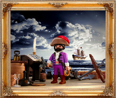 Chevalier Francois de Hadoque painting (Playmadoque) Tags: playmobil ship pirate royalnavy ghost flyingdutchmann admiral captain tintin herge licorne haddock hadoque comic unicorn geobra