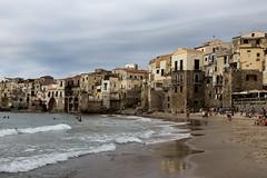 Cefalu 4 (gsamie) Tags: 600d canon cefalu guillaumesamie italy rebelt3i sicilia sicily architecture beach city gsamie people sand sea