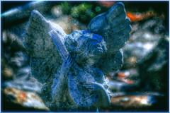 Forgotten Serenade (Astral Will) Tags: statue serenade angel lute hdr hss sliderssunday vignette altered bokeh