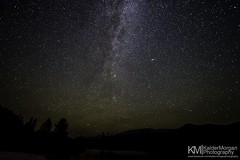 Perseids Meteor and Andromeda! (Kalder Morgan) Tags: trees night forest way stars shower lights nikon angle wide full idaho andromeda galaxy astrophotography frame astronomy scape milky f28 meteor milkyway d600 perseid perseids 1424mm