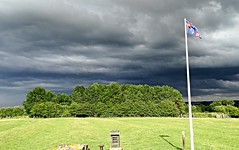 Strange skies over Naseby Battlefield (eucharisto deo) Tags: war king oliver parliament charles battle civil cavalier cromwell roundhead naseby 1645 royalist i
