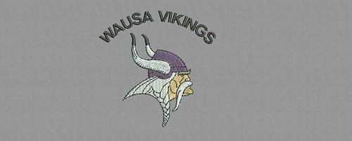Wausa Vikings - embroidery digitizing by Indian Digitizer - IndianDigitizer.com