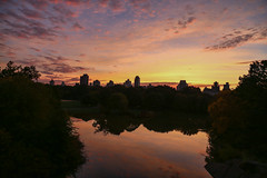 Just Before Sunrise (Bob90901) Tags: nyc newyorkcity morning autumn ny fall sunrise dawn october turtlepond belvederecastle 6d 2015 canonef24105mmf4lisusm