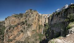 Ronda, Andalucia Panorama, (Explored!) (miketonge) Tags: bridge waterfall spain andalucia sierra ronda gorge malaga espanya guadalvin