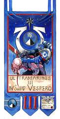 Squad Vespero Banner (Duca Strige) Tags: banner 40k company warhammer third squad standard tactical ultramarines