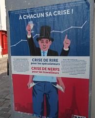 """Affiche, A chacun sa crise, le """"pacte d'austrit"""", Paris Belleville (Jeanne Menj) Tags: paris belleville fredo affiche finance crise travailleurs manuelvalls capitalisme spculateurs pactedaustrit"""