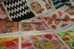Ornaart fabric shop on Spoonflower (Ornaart) Tags: fruits kids design strawberries fabric fruity owls forchildren  spoonflower ornaart