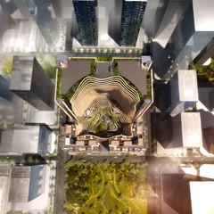 Проект делового квартала Marina One в Сингапуре от Ingenhoven Architects, Gustafson Porter LLP и ICN Design