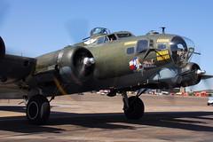 "B-17G ""Texas Raiders"" (eigjb) Tags: usa field plane airplane airport wings october texas force aircraft aviation air over houston airshow b17 ww2 boeing bomber spotting warbird commemorative raiders woh ellington 2015 b17g airworthy kefd"