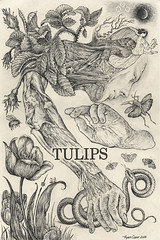 tulips -2015 (Ryan Samuel Carr) Tags: composition pen pencil ink tulips snake anatomy moths illustrator draw astrology
