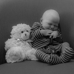 Miles sitting with his teddy. #miles #newborn #baby #infant #blackandwhite #sitting #fb #wp 500px #fbp #portrait (Travis H) Tags: portrait blackandwhite baby infant flickr sitting with teddy fb newborn his miles wp fbp 500px instagram ifttt travishale