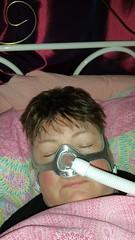 My nasal mask for the treatment of Obstrustive sleep Apnea (Carol B London) Tags: mask sleep nasal osa sleepapnea nasalmask