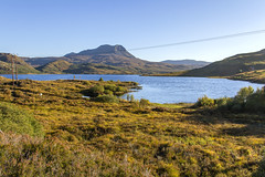 Loch Bad an Sgalaid (Kev Gregory (General)) Tags: looking along shore loch bad an sgalaid towards am feur meall lochan chleirich ghlas leothaid dominate scottish highland skyline a832