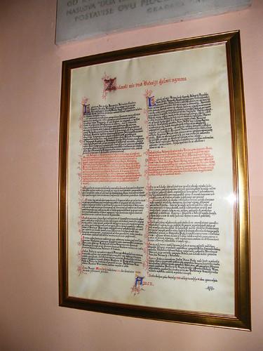 Zára, Az 1358-as Zárai béke oklevele
