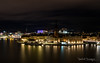 Riddarholmen from Södermalm (Raph/D) Tags: nuit night shot long exposure longue pose lights lumiere light stockholm suede sweden travel north northern europe riddarholmen island ile sodermalm panoramic view city town capital skyline trails water eau gamla stan urban canon eos 7d mark ii canoneos7dmarkii l series lseries 2470mm ef2470mmf28liiusm catchy colors boat